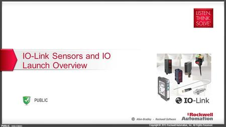 IO-Link Sensors and IO Launch Overview