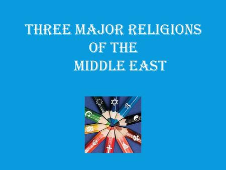 Three Major Religions of the Middle East. Christianit y God -One God -God of Abraham -Trinity (Father, Son, Holy Spirit) God -One God -God of Abraham.