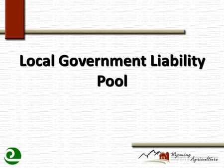 Local Government Liability Pool. What is Liability???