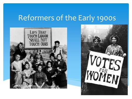 "Reformers of the Early 1900s.  Reform: Anti-Lynching and African American Rights  Refused to give up seat in ""Whites Only"" train car and sued the Chesapeake."