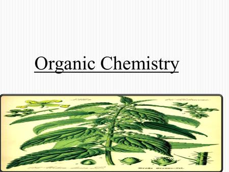 Organic Chemistry. Organic chemistry may be defined as the chemistry of carbon compounds. However, simple carbon-containing compounds (such as carbon.