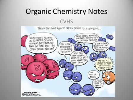 Organic Chemistry Notes CVHS. Carbon is unique Carbon has 4 bonding electrons Carbon can form a large variety of compounds – Carbohydrates, lipids, proteins.