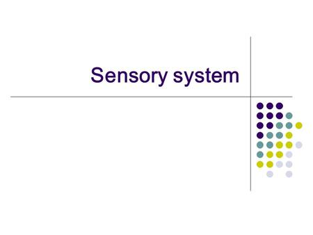 Sensory system. The sensory system is composed of subsystems, each transmitting specific information to the central nervous system.