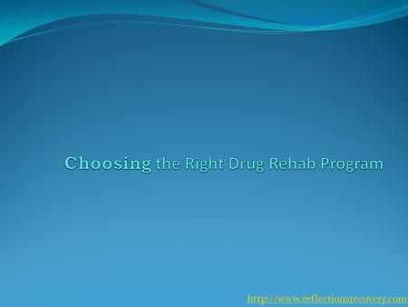 Picking a drug rehab program can be quite a challenging task. Not only is it a difficult decision but one that requires.