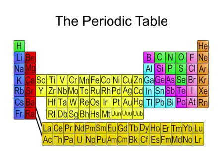 The Periodic Table. The Periodic Table is the central tool of the chemist, but it is used by scientists in all fields of study. It was developed by Russian.