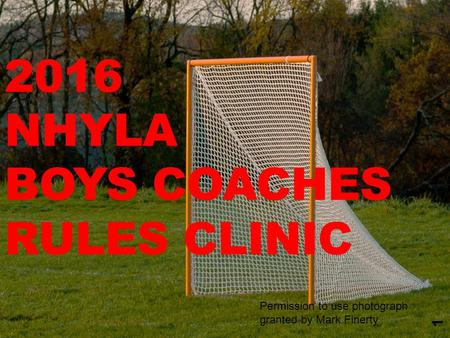 2016 NHYLA BOYS COACHES RULES CLINIC 1 Permission to use photograph granted by Mark Finerty.