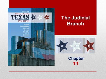 The Judicial Branch Chapter 11. Learning Objectives 11.1 Identify the sources of Texas law. 11.2Compare the functions of all participants in the justice.