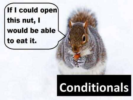 Conditionals. Conditional sentences Show a relationship between a condition (the if clause) and a result.
