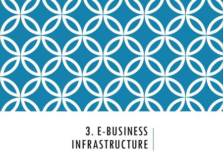 3. E-business infrastructure