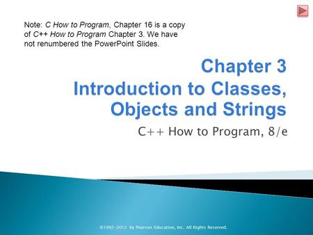 C++ How to Program, 8/e ©1992-2012 by Pearson Education, Inc. All Rights Reserved. Note: C How to Program, Chapter 16 is a copy of C++ How to Program Chapter.