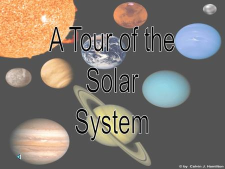 Our solar system consists of the Sun and eight planets This shows the relative sizes of the sun and the planets.