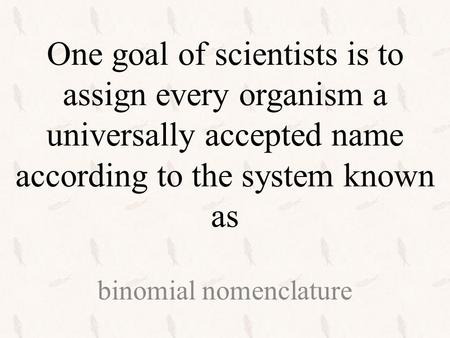 One reason ______________ are not useful to biologists is that they can apply to more than one animal. common names.