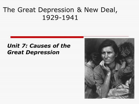 an analysis of the great depression from 1929 to 1930s Term review for unit test on great depression and new deal learn with great depression & new deal test study guide done in 1930s to stimulate the economy.