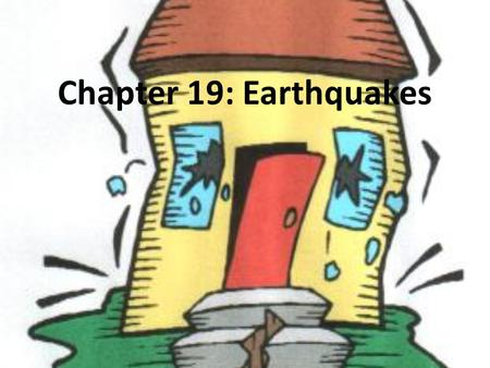 Chapter 19: Earthquakes. What are Earthquakes? Natural vibrations of the ground caused by movement in fractures in Earth's crust or sometimes volcanic.