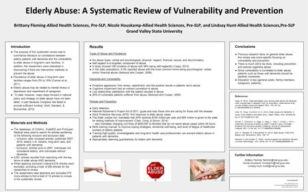review of the literature on falls among the elderly Risk for falls among community-dwelling older people: systematic literature review.