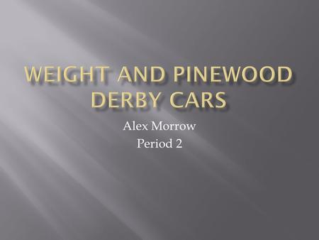 Alex Morrow Period 2.  Introduction/Background  Research  Process  Results.