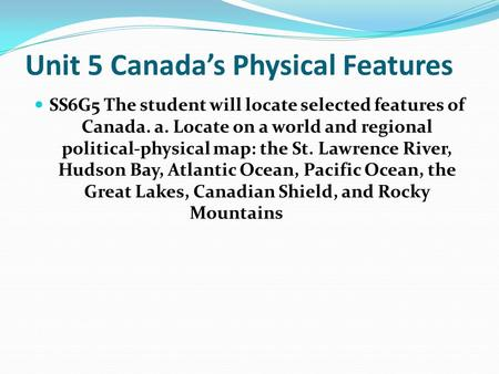 Physical Characteristics Of Canada Ppt Video Online Download - Physical characteristics of canada