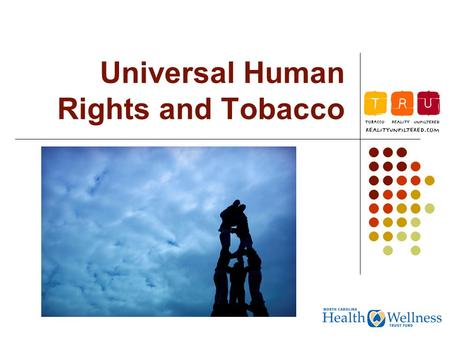 Universal Human Rights and Tobacco