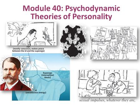 Module 40: Psychodynamic Theories of Personality.