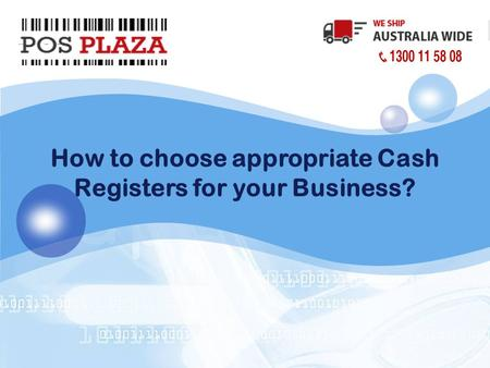 LOGO How to choose appropriate Cash Registers for your Business?