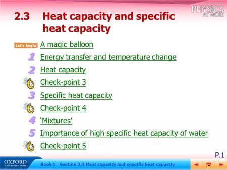 2.3 Heat capacity and specific heat capacity