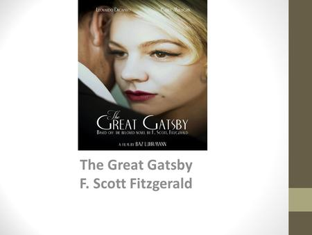 an analysis of f scott fitzgeralds the great gatsby The secret society and fitzgerald's the great perception of social status in f scott fitzgerald's the great gatsby textual analysis and critical.