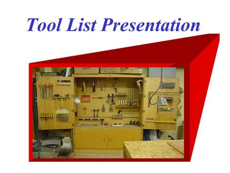 Tool List Presentation. Curved Claw Hammer Nail Set.