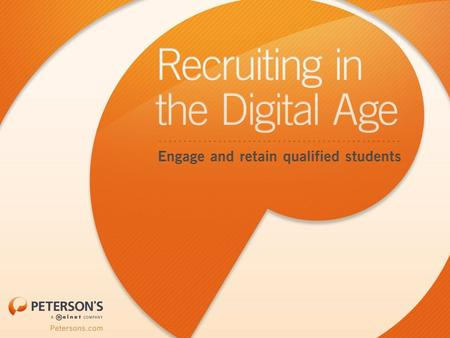 The way students receive information has changed dramatically. Your recruitment strategy needs to remain relevant in this ever-changing digital landscape.