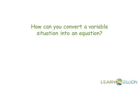 write a situation equation 5th