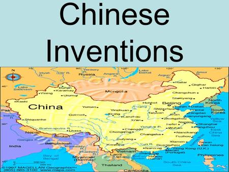 Chinese Inventions. The Chinese invented many goods because for a long time they were isolated: separated from the rest of the world.