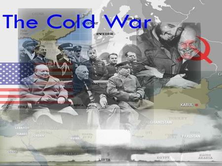 "The term ""Cold War"" was coined by newspaper columnist to refer to a state of war that did not involve actual bloodshed. It came to be used to describe."