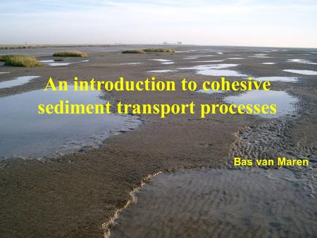 1/51 Bas van Maren An introduction to cohesive sediment transport processes.