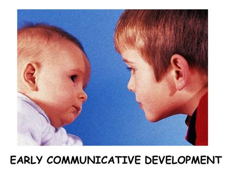 EARLY COMMUNICATIVE DEVELOPMENT. Locutionary Illocutionary Perlocutionary Adapted from McLaughlin, 1998 Birth6 months12 months.