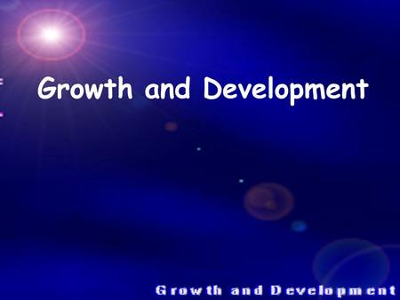 Growth and Development. Growth It is a process involving cell division and cell enlargement. Cell divisions (Mitosis or Meiosis) is process which leads.