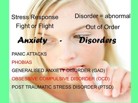 reaction paper on anxiety disorders Generalized anxiety disorder essays everybody has experienced some sort of anxiety in there life anxiety is a total normal thing and is experienced daily but when you have consistent anxiety you should start to worry anxiety is a reaction to stressful situations that helps rather than hinders.