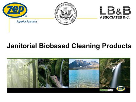Janitorial Biobased Cleaning Products. Why Biobased? Health Concerns Health Concerns  Poor air quality is leading to asthma, coughing, kidney failure.