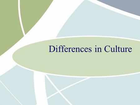 Differences in Culture. 3 - 2 Chapter Overview What is culture? Social Structure Religious and Ethical Systems Language Education Culture and the Workplace.