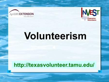 Volunteerism  VOLUNTEER TRENDS.