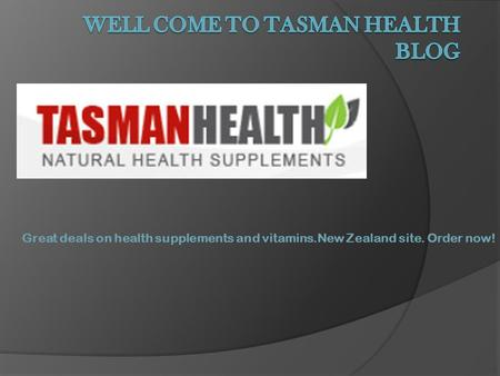 Great deals on health supplements and vitamins.New Zealand site. Order now!