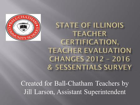 Created for Ball-Chatham Teachers by Jill Larson, Assistant Superintendent.