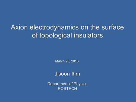 Axion electrodynamics on the surface of topological insulators