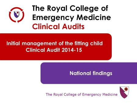 The Royal College of Emergency Medicine The Royal College of Emergency Medicine Clinical Audits Initial management of the fitting child Clinical Audit.