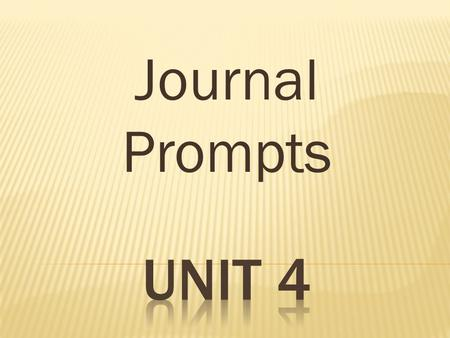 "Journal Prompts. ""Seven Spools of Thread"" Write about someone you get along with well. Explain why you get along so well."