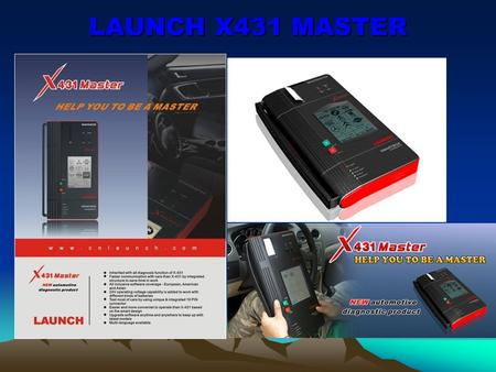 LAUNCH X431 MASTER. LAUNCH's note: