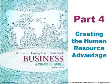 Part 4 Creating the Human Resource Advantage McGraw-Hill/Irwin Copyright © 2014 by The McGraw-Hill Companies, Inc. All rights reserved.