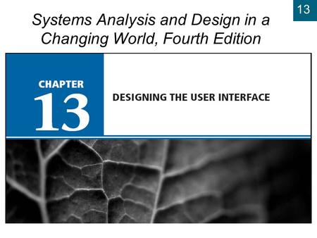 13 Systems Analysis and Design in a Changing World, Fourth Edition.