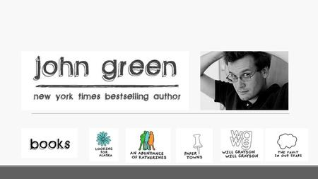 John Green's Biography John Michael Green born August 24, 1977, is an American author of young adult fiction, YouTube video blogger (vlogger) and educator.