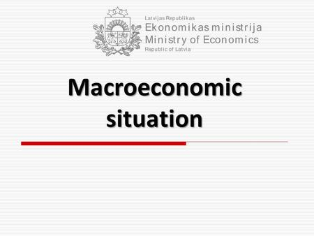 Macroeconomic situation. The economic downturn has been suspended Gross Domestic Product Seasonally adjusted data, 4th q of 2005 = 100 2 Exports and Domestic.