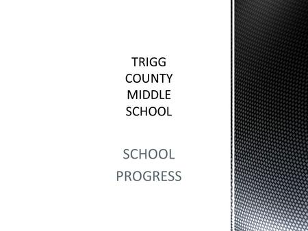 SCHOOL PROGRESS. Goal: TCMS will increase the average combined reading and math proficiency ratings for all students from 43.4% to 71.7% by 2017.
