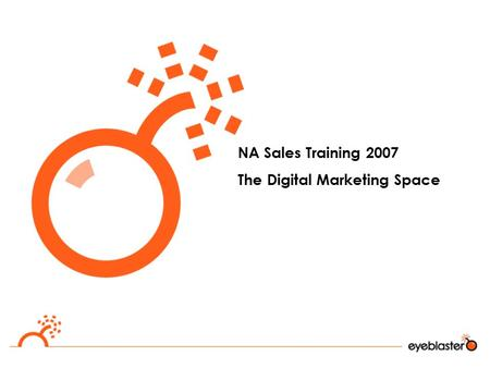 NA Sales Training 2007 The Digital Marketing Space.